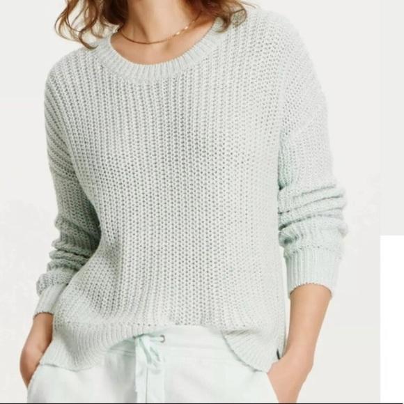 Lou & Grey Chunky Knit Shoreline Sweater in Mint